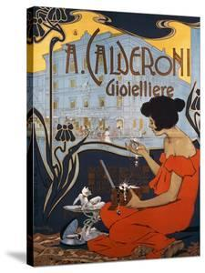 Advertising Poster for Calderoni Jewelers in Milan by Adolfo Hohenstein