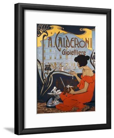 Advertising Poster for Calderoni Jewelers in Milan