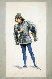 Costume Sketch by Adolfo Hohenstein