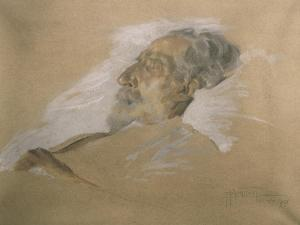 Giuseppe Verdi on His Deathbed by Adolfo Hohenstein