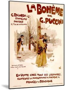 La Boheme by Adolfo Hohenstein