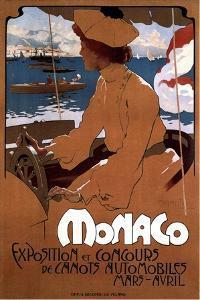 Monaco: Exposition De Canots Automobiles, 1900 by Adolfo Hohenstein