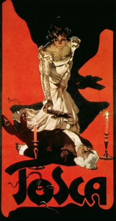 Poster Advertising a Performance of Tosca, 1899 by Adolfo Hohenstein