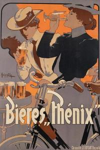 Poster Advertising Phenix Beer, C.1899 (Colour Litho) by Adolfo Hohenstein