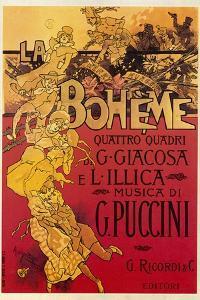 Puccini, La Boheme by Adolfo Hohenstein