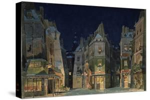 Set design for Act 2 of La Bohème, Opera by Giacomo Puccini by Adolfo Hohenstein