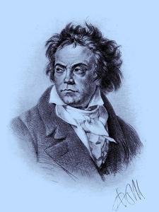 BEETHOVEN Ludwig van by by Adolph Friedrich Erdmann von Menzel