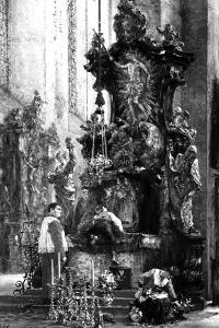 Drawing of an Altar, 1885 by Adolph Friedrich Erdmann von Menzel