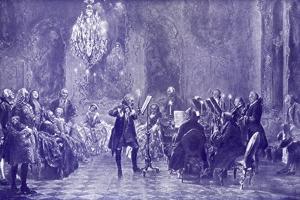 FREDERICK THE GREAT - by Adolph Friedrich Erdmann von Menzel