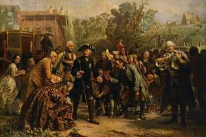 'Friedrich der Große auf by Adolph Friedrich Erdmann von Menzel