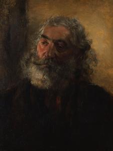 Portrait of a Bearded Man, 1855 by Adolph Friedrich Erdmann von Menzel