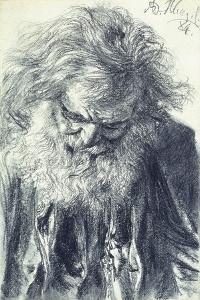 Portrait of an Old Man, 1884 by Adolph Friedrich Erdmann von Menzel