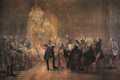 The Flute Concert, 1852