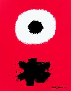 White Disc Red Ground, c.1967 by Adolph Gottlieb