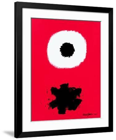 White Disc Red Ground, c.1967