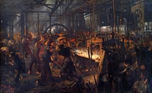 Eisenwalzwerk (Modern Cyclops - the Iron Rolling Mill) by Adolph Menzel