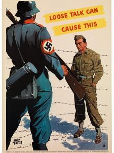 Loose Talk Can Cause This, 1942 by Adolph Treidler