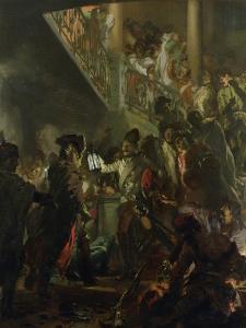 Frederick II the Great (1712-86) in Lissa, Bonsoir, Messieurs! 1858 by Adolph von Menzel