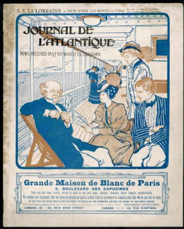 Journal De L'Atlantique, Ship's Newspaper for the 3rd Day of the Atlantic Crossing by La Lorraine