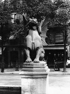 Chimaera from the St. Michel Fountain, Paris, C.1860 by Adolphe Giraudon