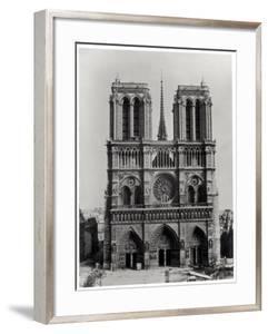 Facade of Notre-Dame, Paris, Late 19th Century by Adolphe Giraudon