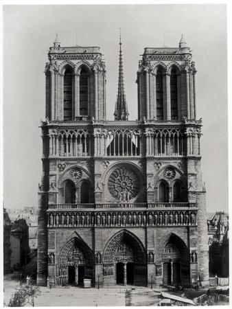 Facade of Notre-Dame, Paris, Late 19th Century