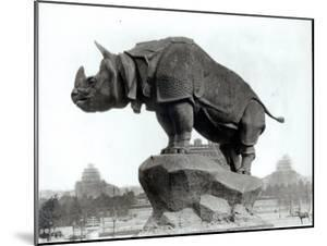 Rhinoceros, 1878, by Alfred Jacquemart by Adolphe Giraudon