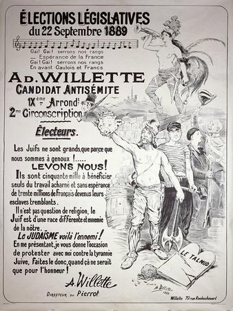 Poster Promoting the Election of the Artist in the Legislative Elections of September 1889