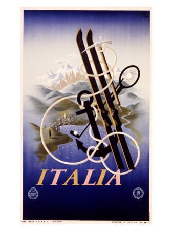 Italy, 1935 by Adolphe Mouron Cassandre