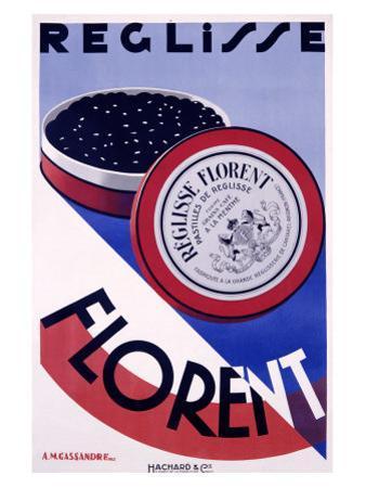 Reglisse Florent by Adolphe Mouron Cassandre