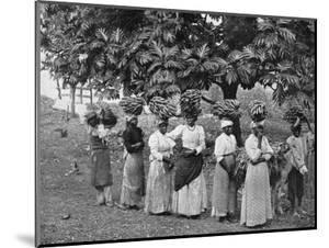 Banana Carriers, Jamaica, C1905 by Adolphe & Son Duperly