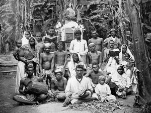 Coolies at Worship, Jamaica, C1905 by Adolphe & Son Duperly