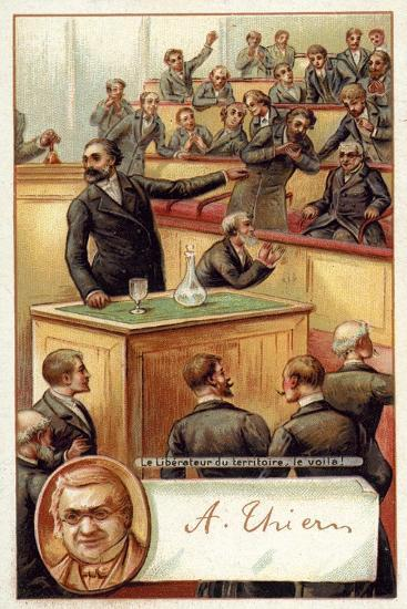 Adolphe Thiers Acclaimed in the French National Asssembly--Giclee Print