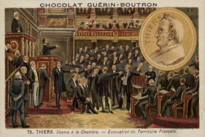 Adolphe Thiers Addressing the French Parliament--Giclee Print