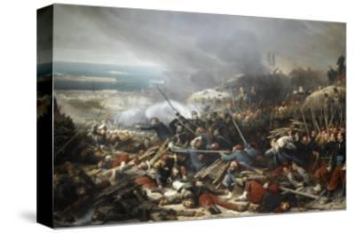 Episode du siège de Sébastopol pendant la guerre de Crimée en 1855, gorge de Malakoff