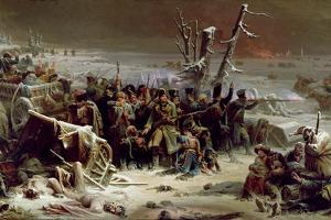 Marshal Ney Supporting the Rear Guard During the Retreat from Moscow, 1856 by Adolphe Yvon