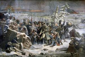 Marshall Ney During the Retreat from Russia, 1894 by Adolphe Yvon