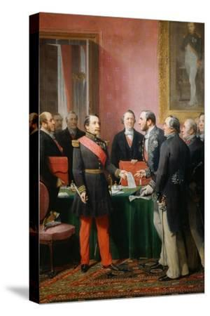 Napoleon III gives a letter to the baron Haussmann June 16, 1859