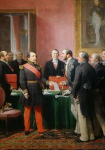 Napoleon III gives a letter to the baron Haussmann June 16, 1859 by Adolphe Yvon