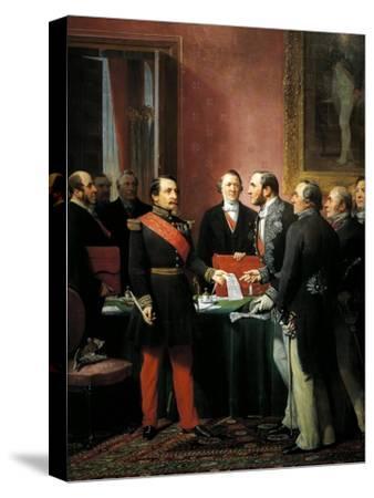 Napoleon III Hands over Decree Allowing Annexation of Suburban Communes of Paris