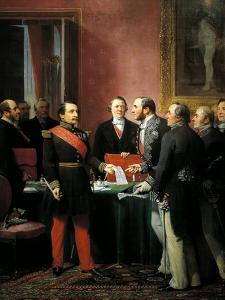 Napoleon III Hands over Decree Allowing Annexation of Suburban Communes of Paris by Adolphe Yvon