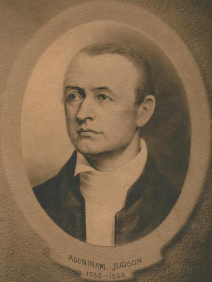Adoniram Judson, Jr. (1788-1850), American Congregationalist and later Baptist missionary, c1910s-Unknown-Giclee Print