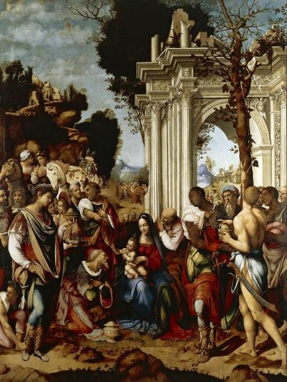 Adoration of Magi-Cesare da Sesto-Giclee Print