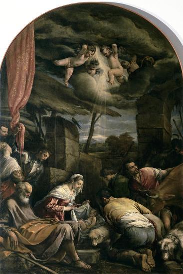 Adoration of Shepherds-Jacopo Bassano-Giclee Print