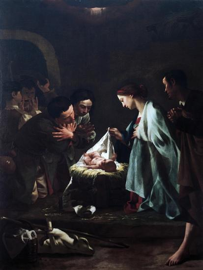 Adoration of Shepherds-Federico Bencovich-Giclee Print