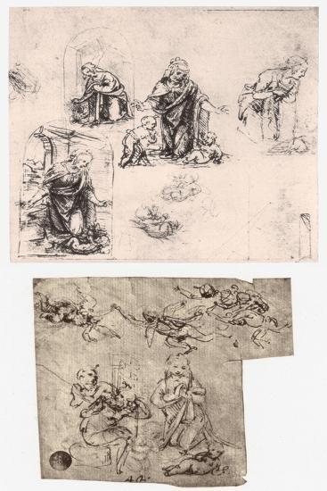 Adoration of the Child, C1483-Leonardo da Vinci-Giclee Print
