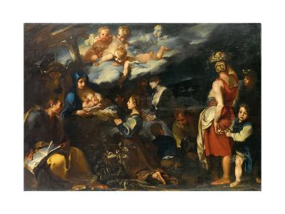 Adoration of the Child with Saint Luke, C.1700-Carlo Donelli-Giclee Print