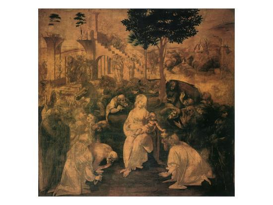 Adoration of the Magi, 1481-Leonardo da Vinci-Giclee Print