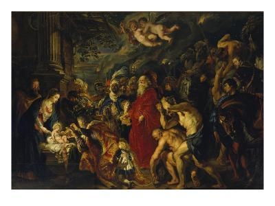 Adoration of the Magi, 1608 and 1628/29 (Enlarged)-Peter Paul Rubens-Giclee Print