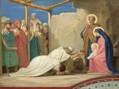 Adoration of the Magi, 1857-Hippolyte Flandrin-Giclee Print
